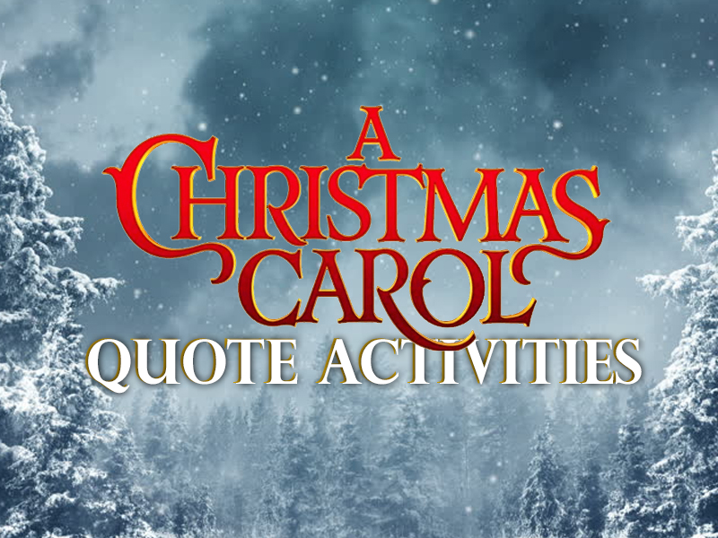 A Christmas Carol - Quote Activities