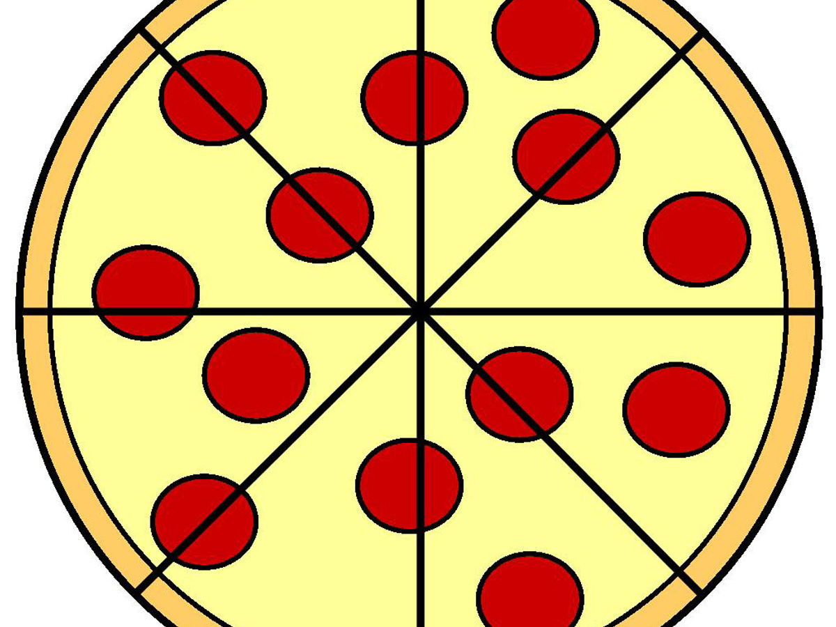 Fraction Pizza 1/2