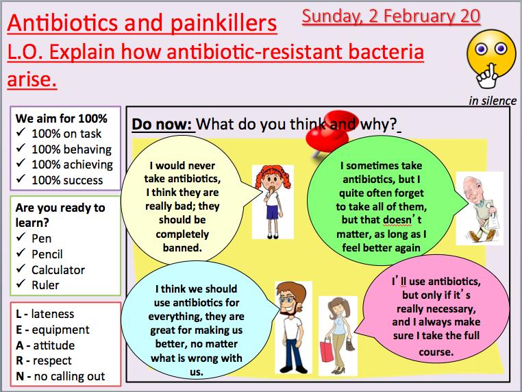 AQA B6.2 Antibiotics and painkillers