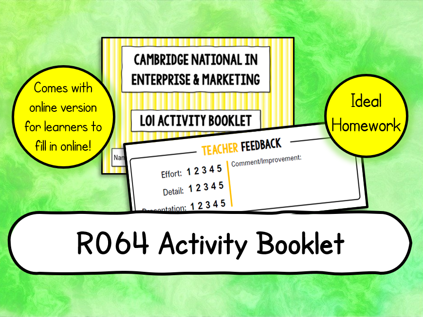 R064 LO1 Activity Booklet (PDF version AND PPT to Complete Online)
