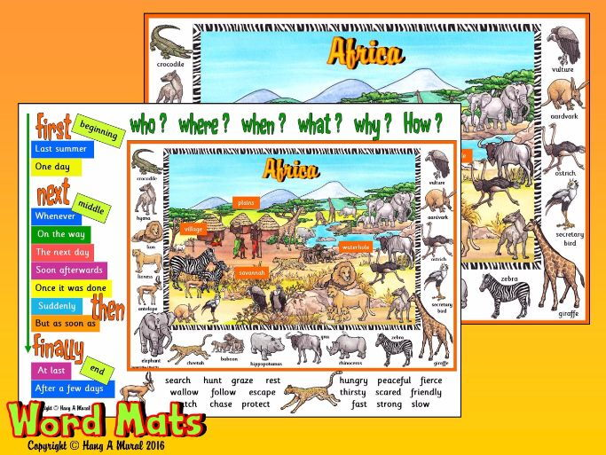 African Safari - Word Mats
