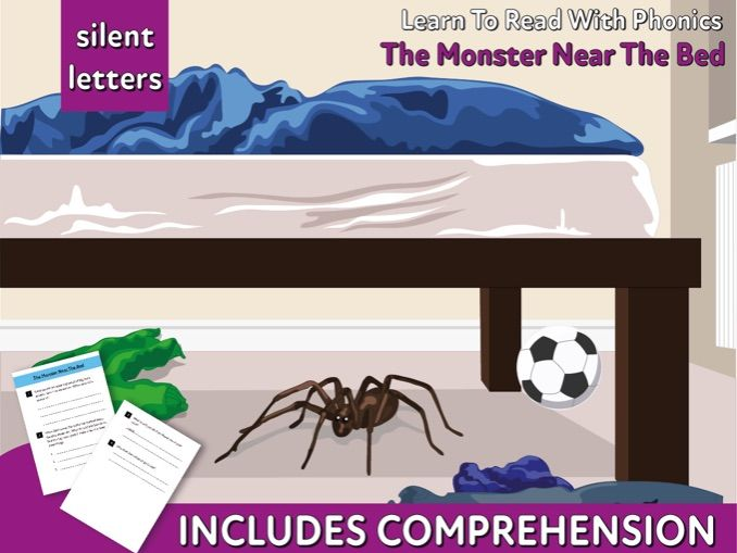 Reading Comprehension 'The Monster Near The Bed' (4-8 years)