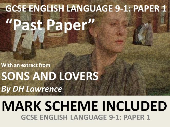 """GCSE English Language 9-1 Paper 1 """"Past Paper"""" (with extensive MARK SCHEME)"""
