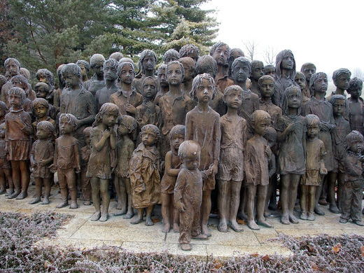 Why was the village of Lidice destroyed?