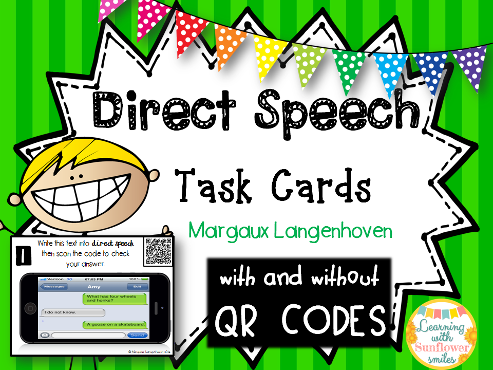 Direct Speech Task Cards