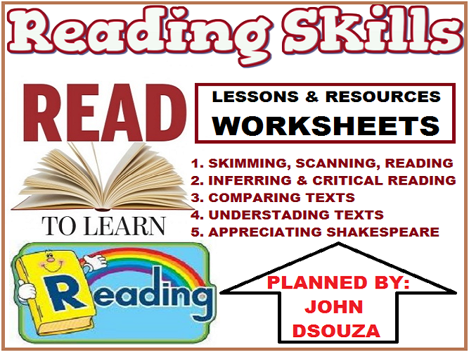 READING SKILLS - LESSONS, RESOURCES & WORKSHEETS: BUNDLE