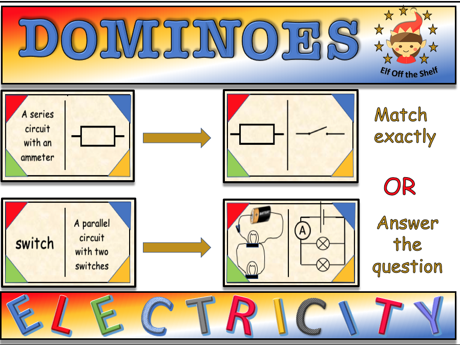 Current Electricity - Circuit and Symbols Dominoes KS3