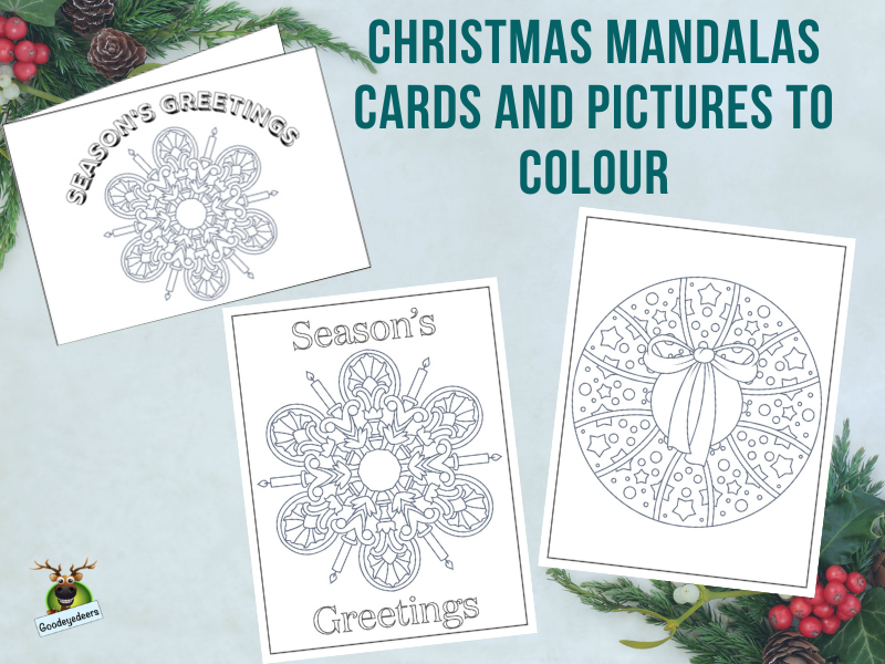 Christmas Mandalas - Cards and Pictures to Colour