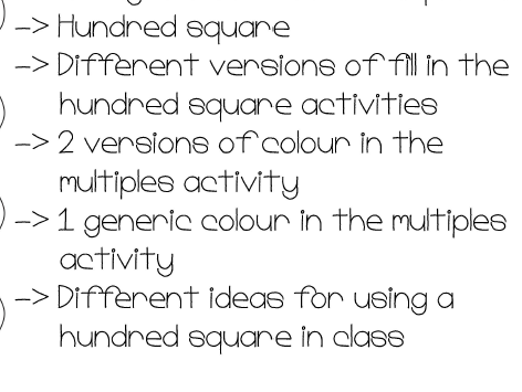 My Hundred Square Activities