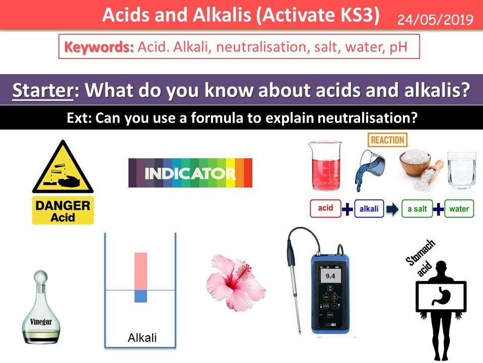Acids and Alkalis (Activate KS3)
