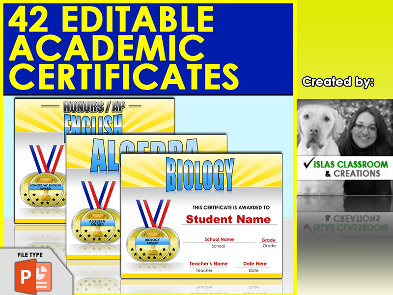 42 Editable Academic Awards - End of the Year awards