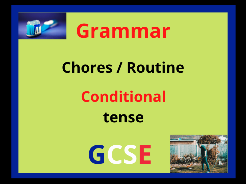 French conditional tense - routine chores