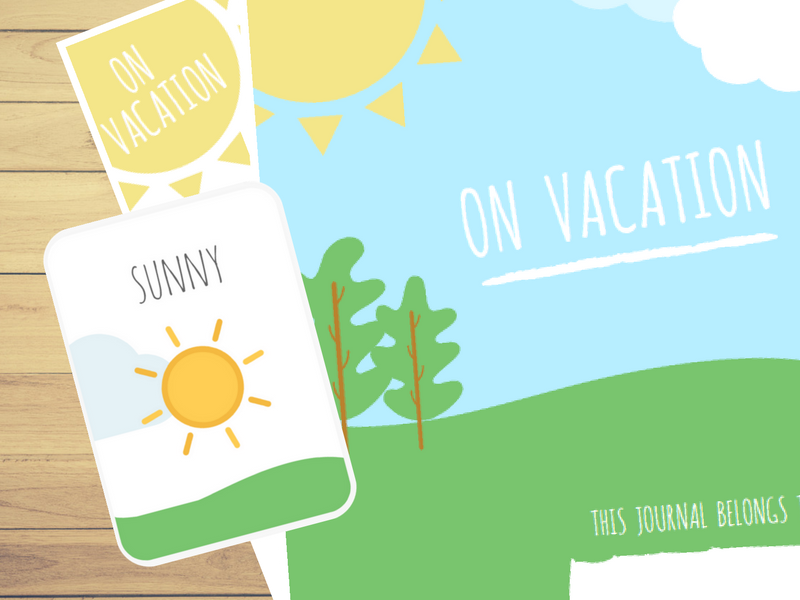 My Travel Journal⎜Printable Kids Travel Journal⎜On vacation⎜Travel Planner⎜Games and Flash Cards