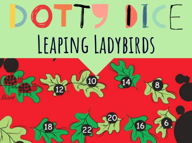 Numeracy Board Game - Leaping Ladybirds - Advanced Counting - Halving numbers to 24