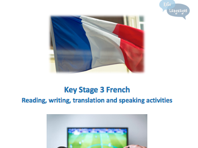 Key Stage 3 French - technology and free-time activity booklet - New GCSE-style questions