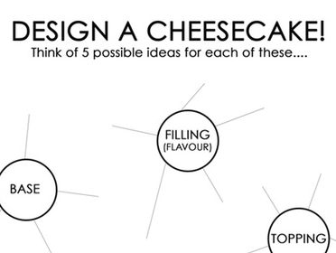Design A Cheesecake Activity Sheet - GCSE & KS3 Food & Nutrition Technology