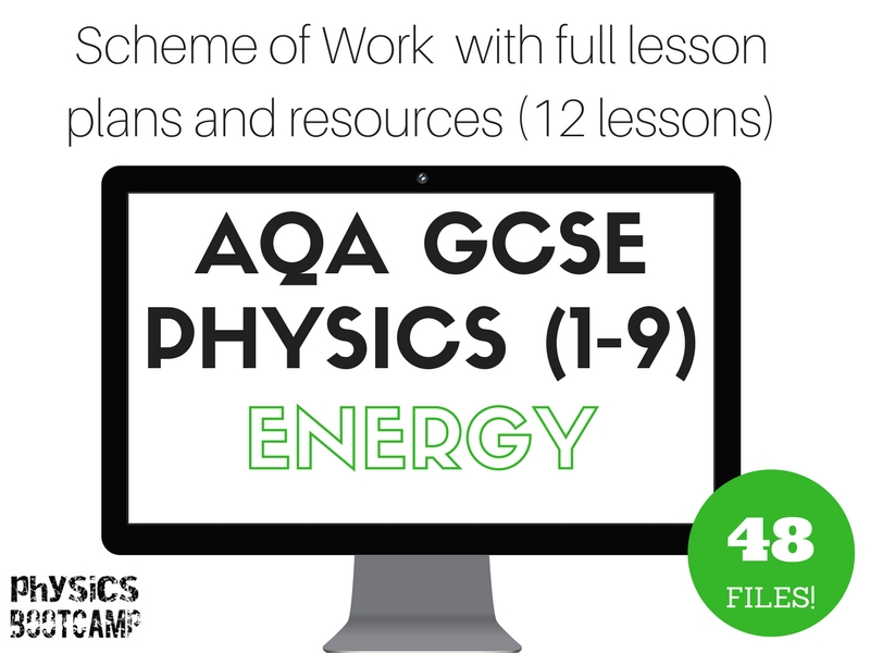 AQA GCSE Physics (1-9) ENERGY Scheme of Work (full lesson plans and resources - 12 lessons)