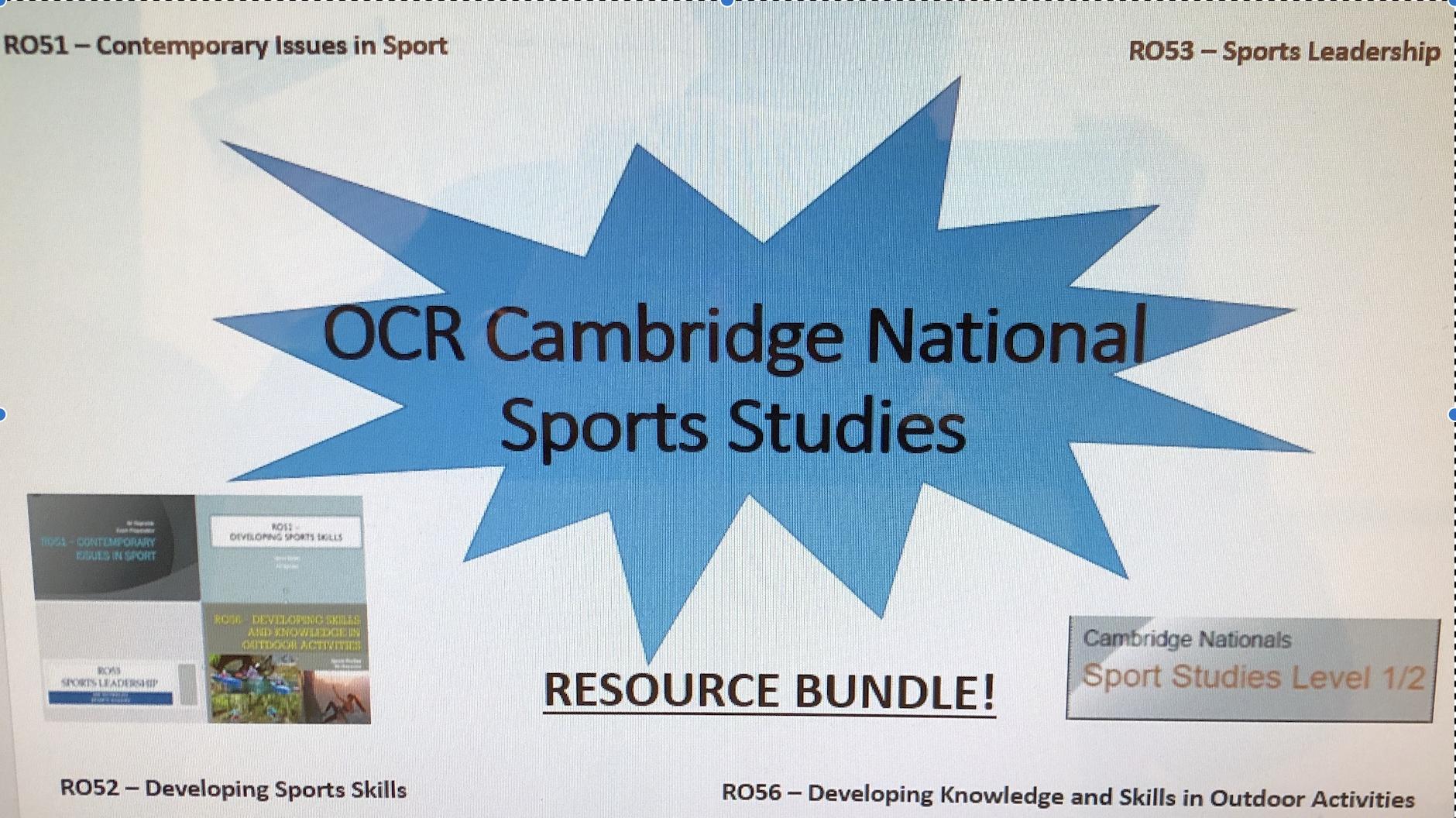 OCR Cambridge National Sports Studies