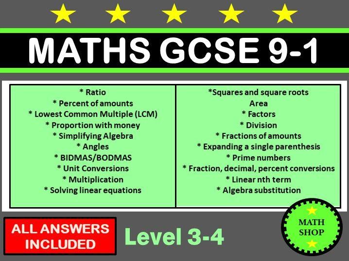 GCSE Maths Revision Mats