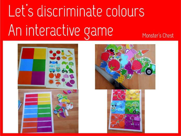 Interactive game to discriminate colours.