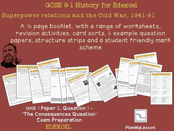 Edexcel GCSE 9-1 Superpower relations & the Cold War Unit 1, Paper 2, Question 1 exam preparation