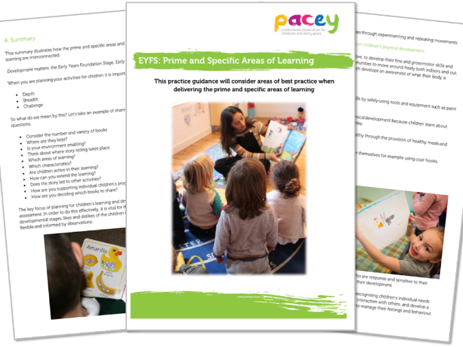 Prime and specific areas of learning ¦ Early years practice guide