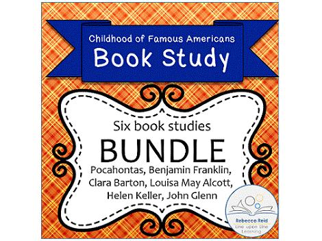 Book Study BUNDLE! Childhood of Famous Americans (6 Book Studies!)