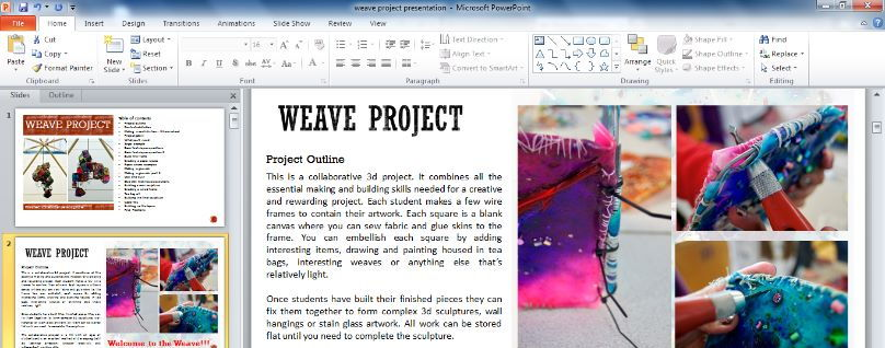 Weave Sculpture Project