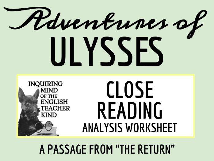 Adventures of Ulysses Close Reading Worksheet - The Return