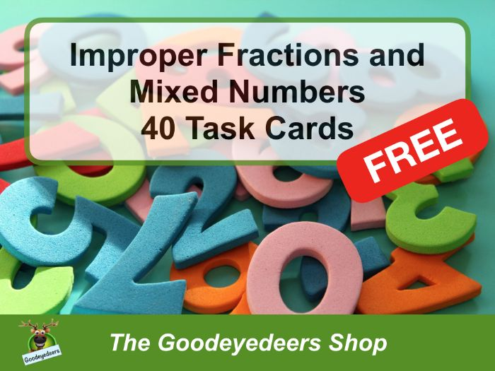 Improper Fractions and Mixed Numbers - Task Cards