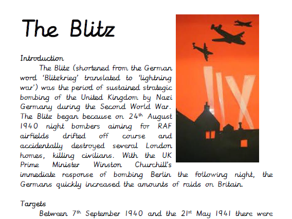 The Blitz Guided Reading Comprehension
