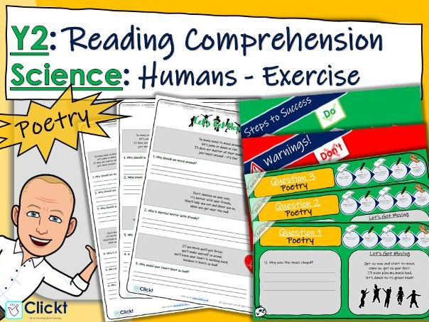 Year 2 Reading Comprehension (POETRY): Science: Animals, including humans: Exercise