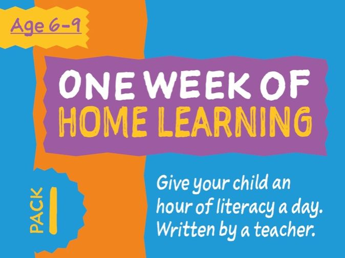 1 Week Literacy Distance Learning: PACK ONE (age 6-9)