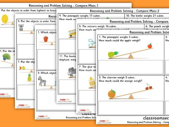 Year 1 Compare Mass Spring Block 4 Reasoning and Problem Solving Pack
