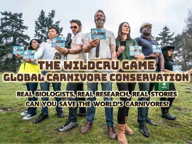 The WildCRU Game: Global Carnivore Conservation