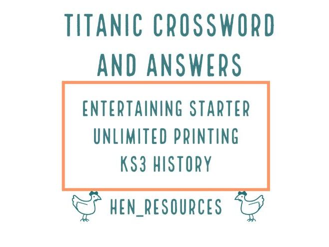 Titanic crossword