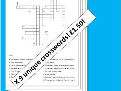 1066: Edward to William Crosswords x 9!