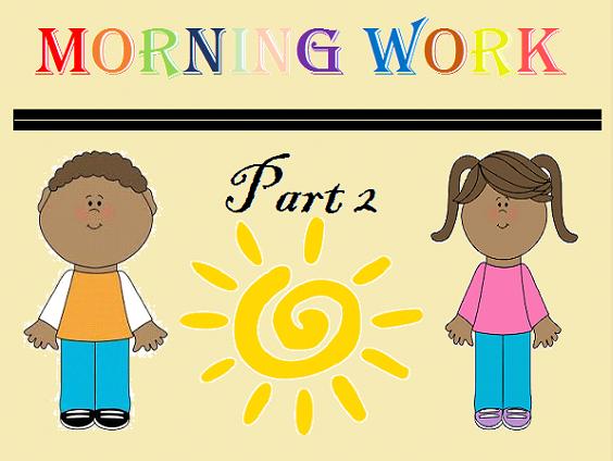 Kindergarten Morning Work Part 2 November