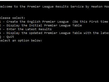 "GCSE Computing - Python ""Premier League"" Project"