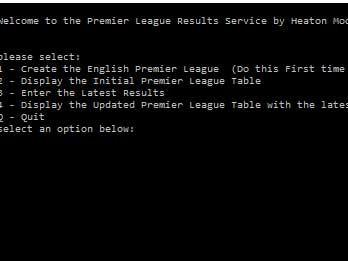 """GCSE Computing - Python & SQL  The """"Premier League"""" Project"""