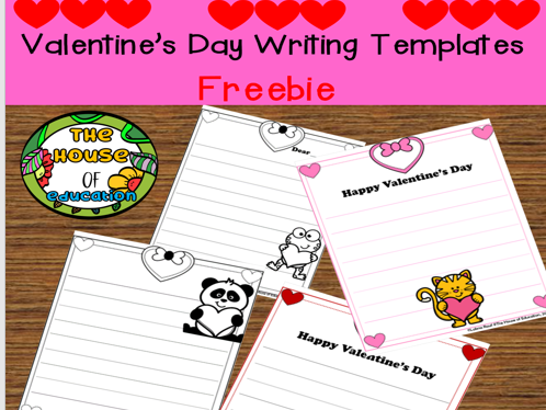 FREE Valentine's Day Love Letters Writing Templates