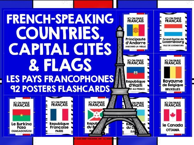 FRENCH-SPEAKING COUNTRIES POSTERS FLASHCARDS