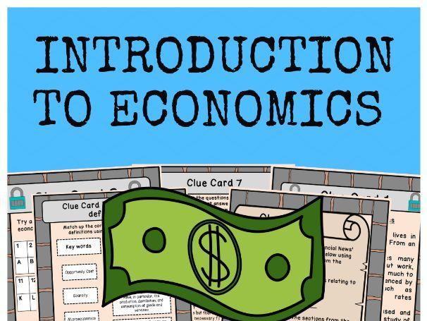 Introduction to Economics - Escape Room