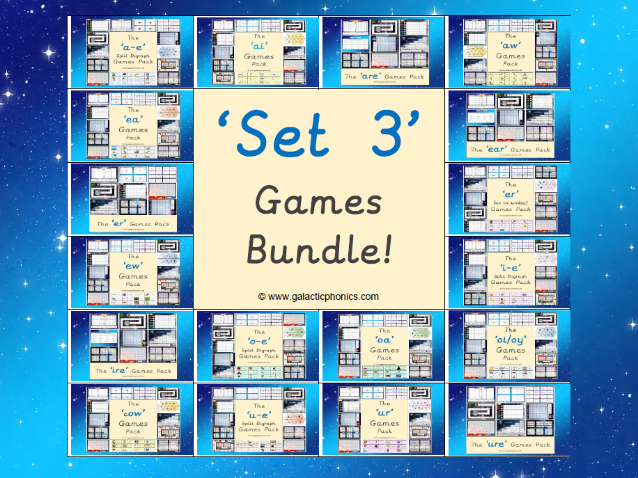 The Set 3 Phonics Games Bundle (Read, Write, Inc. Set 3 Sounds)