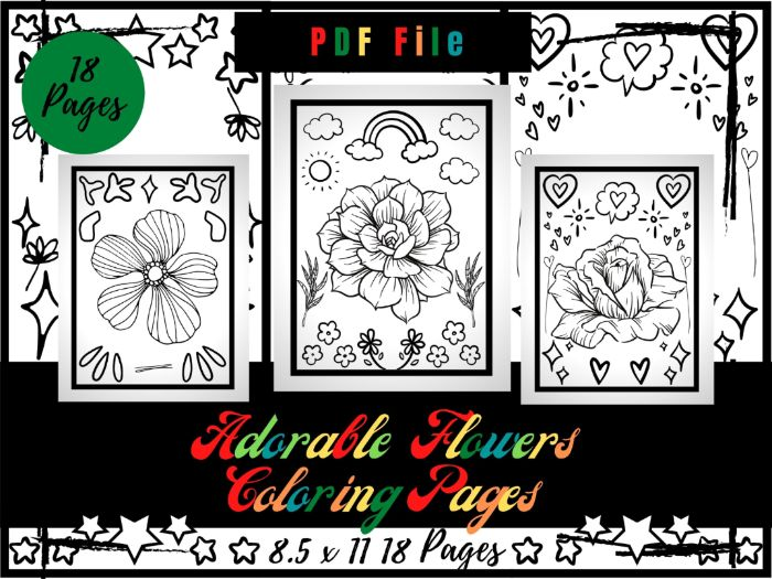 Adorable Flowers Colouring Pages For kids, Flowers & Garden Colouring Sheets PDF