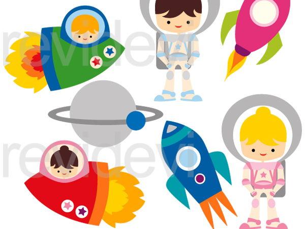 Astronaut Kids Graphic Clip Art Digital Images