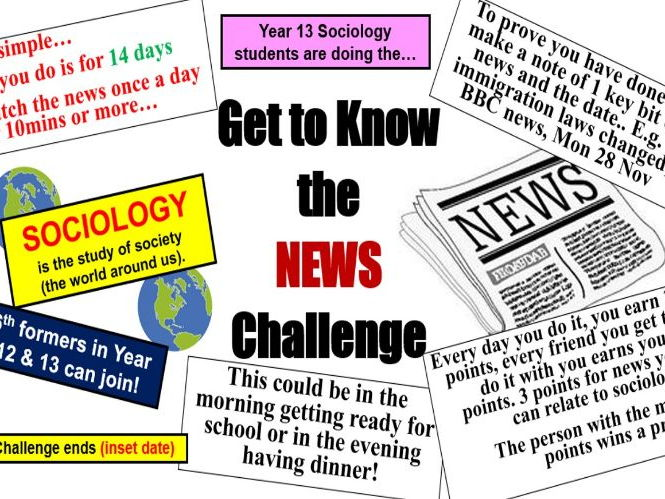 Sociology News Article - Challenge!