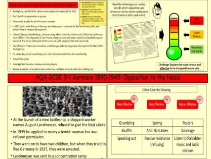 AQA GCSE 9-1 History Germany 1890-1945: Opposition to the Nazis