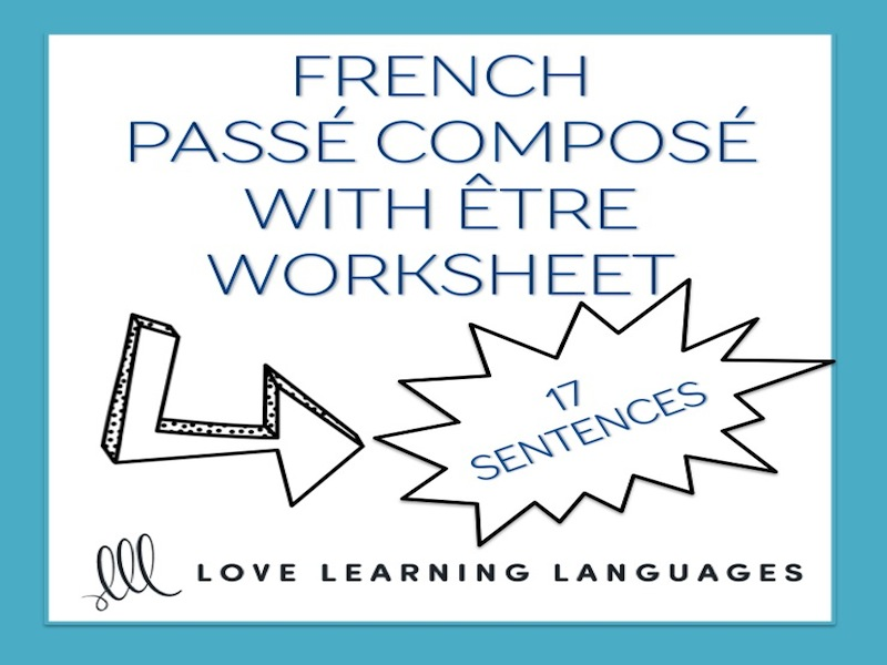 GCSE FRENCH: French passé composé with être - French grammar worksheet