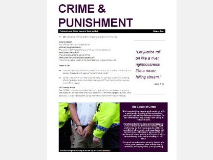 WJEC Eduqas Issues of Good and Evil: Crime, Punishment, Prisons and Chaplains Exam Booklet
